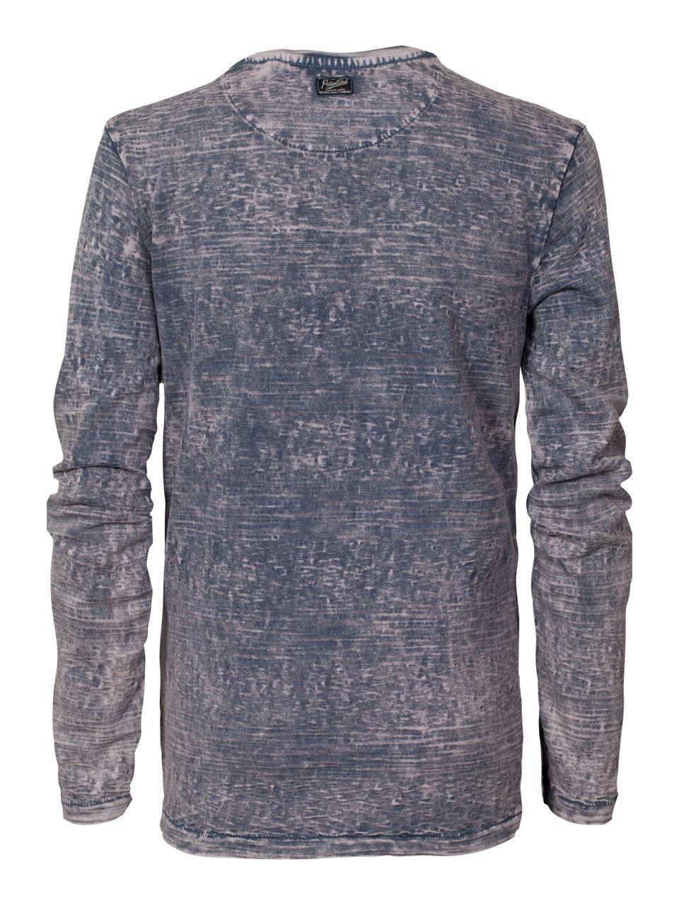 Jungen-T-Shirt-Langarmshirt-Petrol-Druck-blau-B-SS17-TLR602