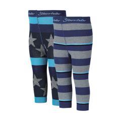 Jungen 2er Pack Legging mit Streifen von Sterntaler, blau - 8761700b