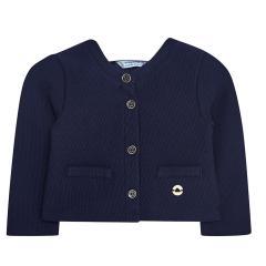 Baby Mädchen festliche Strickjacke Sweatjacke, dunkelblau - 153
