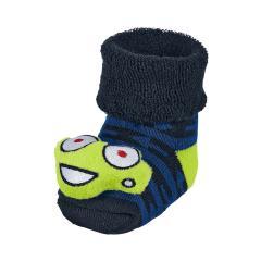 "Baby Jungen Rassel-Söckchen Plüsch-Socken, marineblau ""Frosch"" - 8441901"