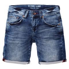 Jungen kurze Hose shorts Bermuda Jeans, dunkelblau - B-SS19-SHO550