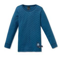 Jungen langes Unterhemd Shirt Ringel Capt'n Sharky, dunkelblau - 163161