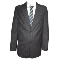 Nadelsteifen-Anzug Jungen Sacko und Hose, schwarz-gestreift