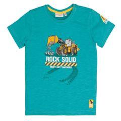 Salt&Pepper Jungen T-shirt kurzarm mit Bagger-Motiv, grün – 93112165g