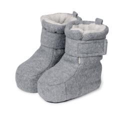 Baby Schuhe Jungen gefüttert mit Stoppern und Klettverschluss, grau - 5101616