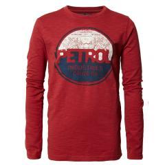 Jungen Pullover Jersey Sweatshirt Langarmshirt mit Aufdruck, rot - B-PS19-TLR670r