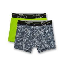 Jungen Unterhose Shorts Hipshorts Doppelpack gemustert Camouflage einfarbig ,neongrün-blau -346871