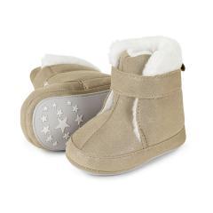 Baby-Schuhe Winterschuhe Mädchen Stiefel rutschfeste Sohle gefüttert mit Klettverschluss glitzernd, gold - 5301808