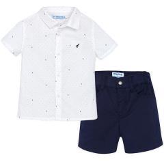 Baby Jungen Bekleidungsset Kurzarmhemd und Shorts, marineblau - 1297