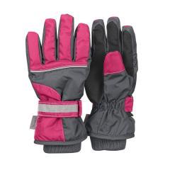 Mädchen Fingerhandschuh Thermo-Handschuh mit reflektierendem Klettverschluss wasserdicht rosa, eisengrau - 4321810-577, Größe 3 3 | eisengrau |