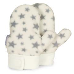 """Jungen Mädchen Fäustel mit Klettverschluss Faust-Handschuhe mit Daumen Microfleece """"Sterne"""", beige - 4301920"""