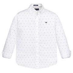 Jungen Hemd mit langen Ärmeln Langarmhemd, weis - 7143