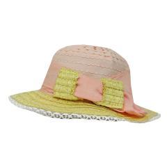Strohhut festlicher Hut Mädchen Sommerhut, rosa