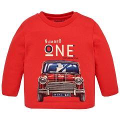 Jungen Shirt mit langen Ärmeln Automotiv, rot - 2.012r
