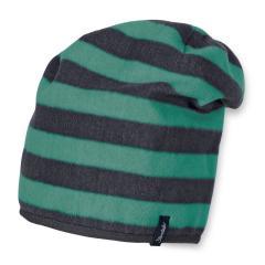 Jungen Wintermütze Fleece Slouch-Beanie, grün