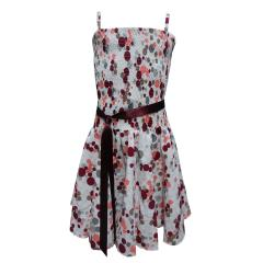 Sommerkleid festliches Kleid Festkleid, weiß-bunt
