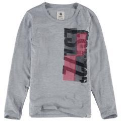 """Garcia Jungen T-Shirt Langarmshirt Aufdruck """"Est. 72"""", hellgrau mel. - H93602 66"""