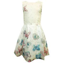 Eisend Festkleid für Kinder mit Schmetterling-Motiv, weiß - 584111