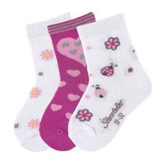 """3-er Set Mädchen Socken """"Marienkäfer"""", weiss - 8321824"""