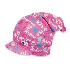 Mädchen Kopftuch mit Schirm, UV-Schutz 30, rosa - 1451922