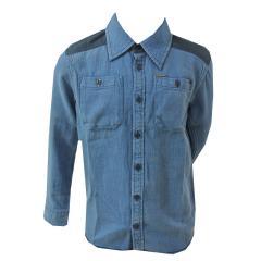 Jungen Hemd langarm, blau