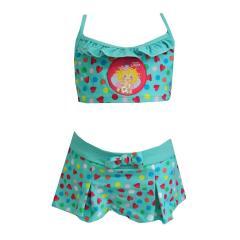 Bustier-Bikini Zweiteiler Mädchen Herzen-Musterung Prinzessin Lillifee, mint