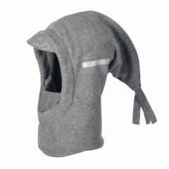Jungen Schalmütze Wintermütze Fleece einfarbig, grau - 4521440
