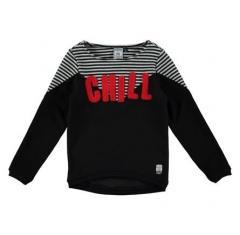 Mädchen Sweater Pullover, schwarz - RJG-73-700