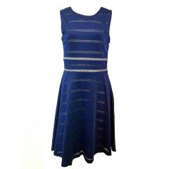 Eisend Festkleid mit Diamantmuster dunkelblau - 584214db