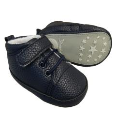 Baby Jungen Schuhe Krabbelschuhe Kunstlederoptik, marineblau - 2301623