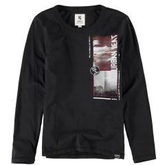 """Garcia Jungen T-Shirt Langarmshirt mit Aufdruck """"Urban Beat"""", schwarz - I93400 1755 off black"""