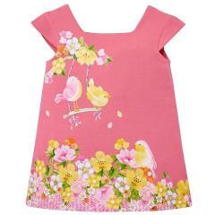 Mayoral Sommerkleid kurzarm mit süßem Motiv, rosa - 1.946-60