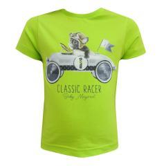 T-Shirt kurzarm Baby Jungen Classic Racer, grün - 1009