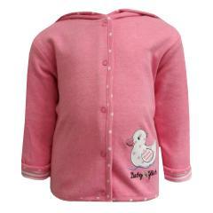 Baby Mädchen Sweatjacke Ente, rosa - 73818247
