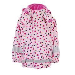 """Mädchen 3 in 1 Multifunktionsjacke Regenjacke mit Fleecejacke und abnehmbarer Kapuze 3000 mm Wassersäule gefüttert """"Punkte"""", rosa -5652014"""