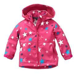 Softshelljacke Funktionsjacke von Outburst Wasserabweisend Mädchen Sternemuster, brombeer - 8418918
