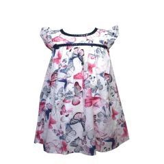 Mädchen Sommerkleid Tunika Baumwolle Schmetterlinge, blau - 981396, Größe 140 140 | blau |