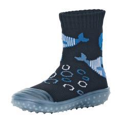 """Jungen Kinder Anti-Rutsch-Socken Adventure-Socks Socken-Schuh-Kombination """"Wal"""", marineblau - 8362000"""