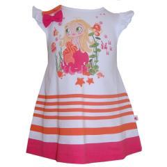 Baby Mädchenkleid, coral