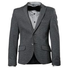 Blazer Jungen festliche Jacke Jacket gemusterter Stoff, blau (ohne Hemd und Krawatte) - 3547605a