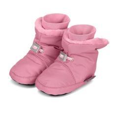 Baby Mädchen Winterschuhe gefüttert Plüschfutter wasserabweisend mit Gummizug und rutschfester Sohle einfarbig, perlrosa - 5101521