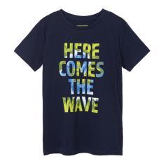 "Jungen T-Shirt Sommershirt kurzarm ""Here comes the wave"", dunkelblau - 6080"