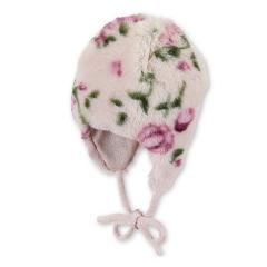 Baby Mädchen Mütze Inka-Mütze gefüttert Wintermütze zum Binden, helllila - 4401924