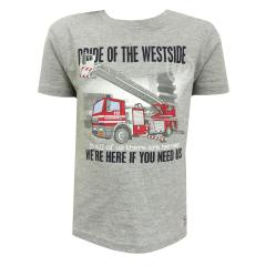 Jungen T-Shirt Kurzarm-Shirt Feuerwehr, grau - 73112135