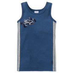 Jungen Unterhemd mit Automotiv, blau - 163440