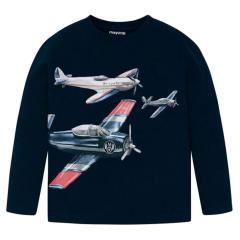 """Jungen Kids T-Shirt Langarmshirt, dunkelblau """"Flugzeuge"""" - 4.023"""