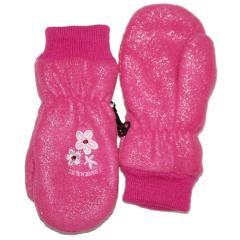 Baby Fausthandschuhe Mädchen Fleece wasserabweisend Glitzer, pink