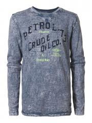 Jungen T-Shirt Langarmshirt Petrol-Druck, blau - B-SS17-TLR602