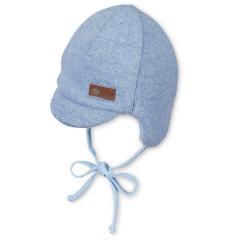 Baby Jungen Schirmmütze gefüttert Wintermütze zum Binden, himmelblau - 4601910