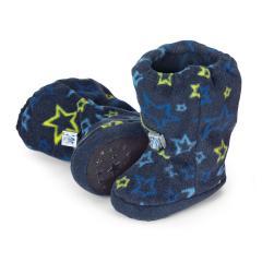 "Baby Jungen Winterschuhe Stiefel Microfleece gefüttert Thinsulate Fleecefutter Gummizug rutschfeste Sohle gemustert ""Sterne"", marineblau - 5101911"